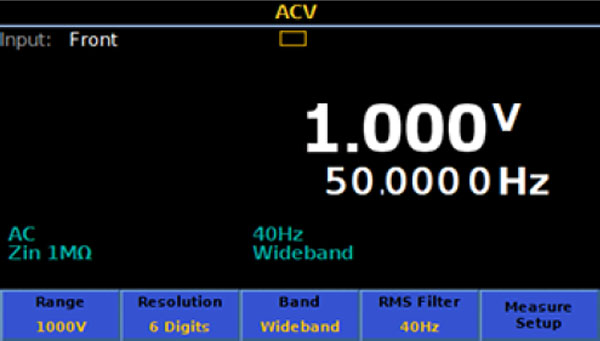 8588A AC voltage measurement, screen capture