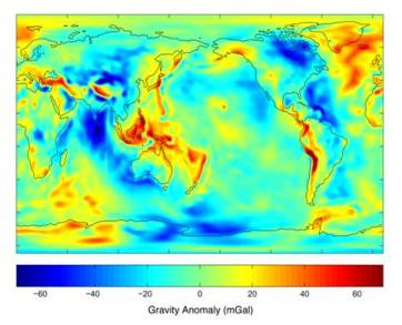 Gravity Anomaly Map
